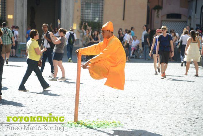 Italië Rome straatartiest