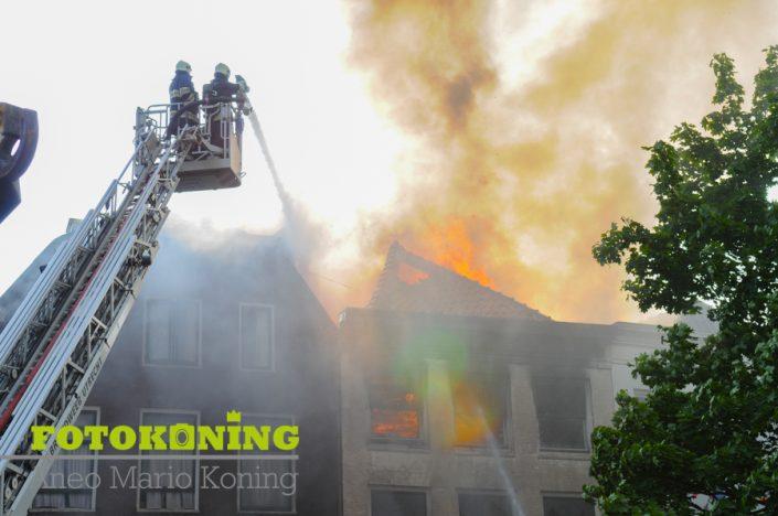 Grote brand De Arm Oudegracht Utrecht 2008