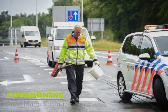Persfotografie -Ongeval Amersfoortsestraat Soesterberg N237