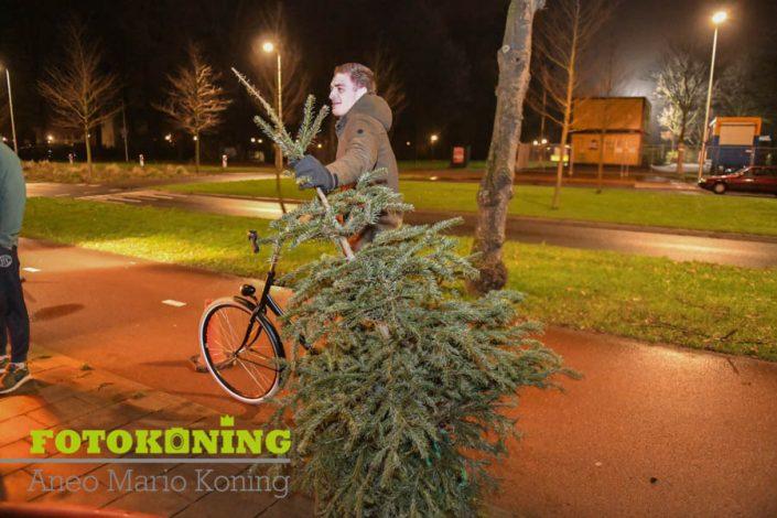 Kerstbomen verbranding 2018 Zuilen