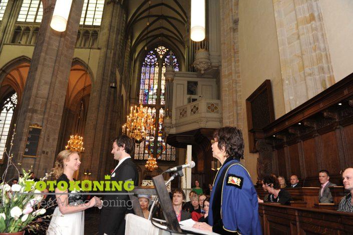 1ste burgerlijk huwelijk in de Domkerk
